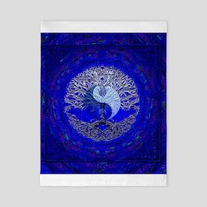 Blue Yin Yang Twin Duvet Cover