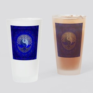 Blue Yin Yang Drinking Glass
