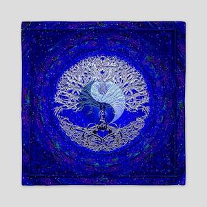 Blue Yin Yang Queen Duvet
