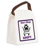 Don't Shop, Adopt. Canvas Lunch Bag