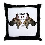 Dagmar's Brindle University Throw Pillow