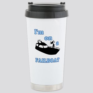 On a Boat Failboat Stainless Steel Travel Mug
