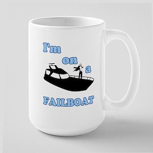 On a Boat Failboat Large Mug