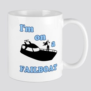 On a Boat Failboat Mug