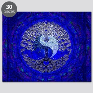 Blue Yin Yang Puzzle