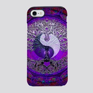 Purple and Red Yin Yang with a iPhone 7 Tough Case
