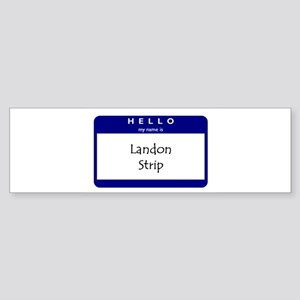 Landon Strip Bumper Sticker