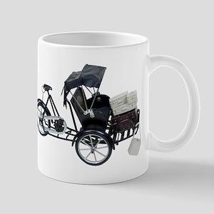 Rickshaw and luggage Mug