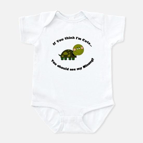 Turtle Infant Bodysuit-Cute Ninong