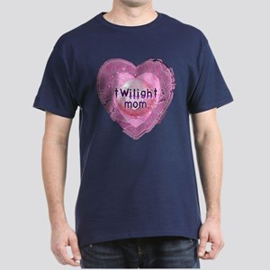 Twilight Mom Lilac Grunge Heart Crest Dark T-Shirt