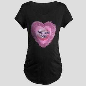 Twilight Mom Lilac Grunge Heart Crest Maternity Da