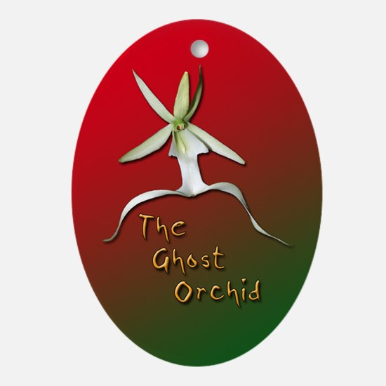 Ghost Orchid Oval Ornament