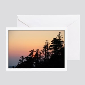 Mountain Sunset - North Carolina Greeting Card