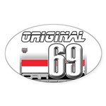 Race to the Limit Oval Sticker