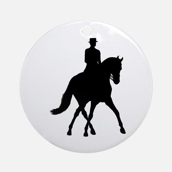 Half-pass Silhouette Ornament (Round)