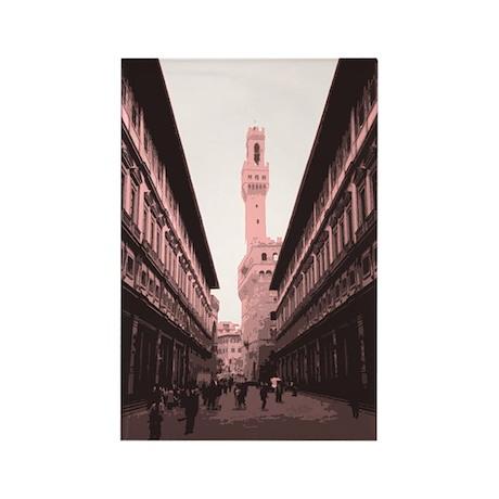 Piazza delgi Uffizi Rectangle Magnet (100 pack)