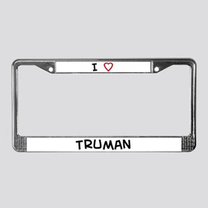 I Love Truman License Plate Frame