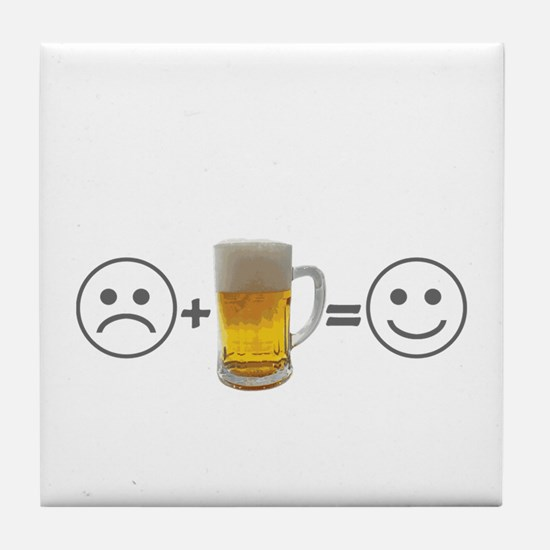 Beer makes me happy Tile Coaster