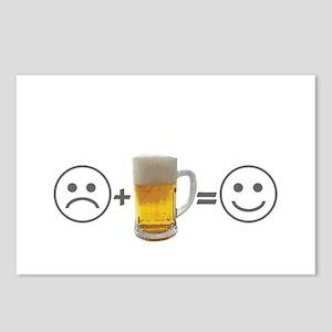 Beer makes me happy Postcards (Package of 8)