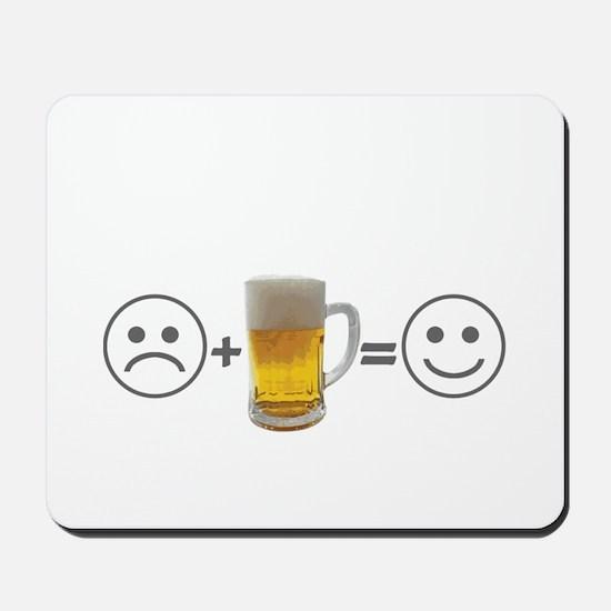Beer makes me happy Mousepad