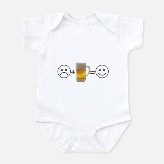 Beer makes me happy Infant Bodysuit