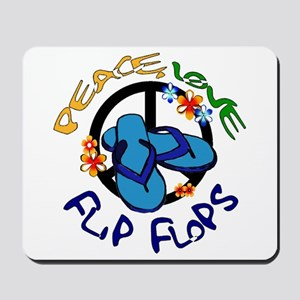 peace, love, flip-flops Mousepad