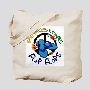 peace, love, flip-flops Tote Bag