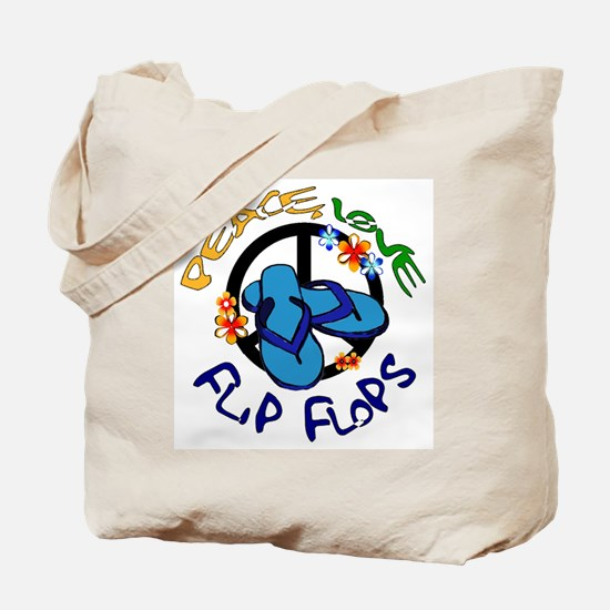 peace, love, flip-flops Tote Bag