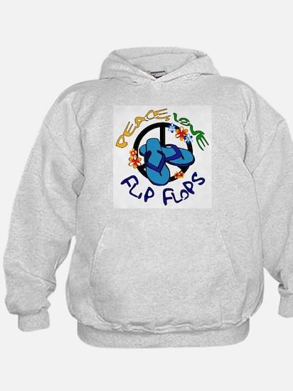 peace, love, flip-flops Hoodie