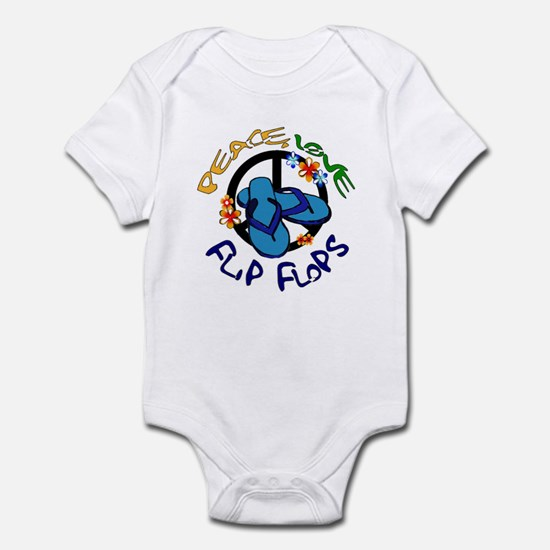 peace, love, flip-flops Infant Bodysuit