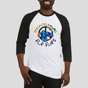 peace, love, flip-flops Baseball Jersey