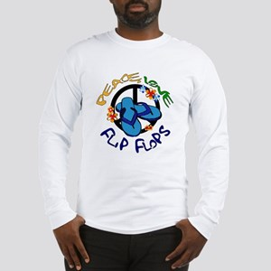 peace, love, flip-flops Long Sleeve T-Shirt