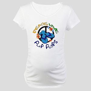 peace, love, flip-flops Maternity T-Shirt