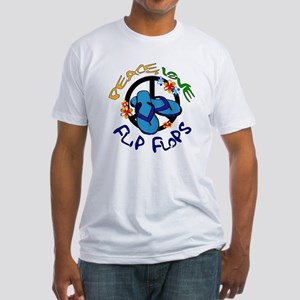 peace, love, flip-flops Fitted T-Shirt