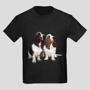 Basset Hounds Kids Dark T-Shirt