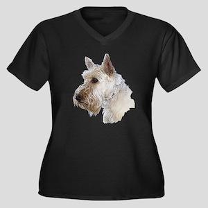 Scottish Terrier (Wheaten) Women's Plus Size V-Nec