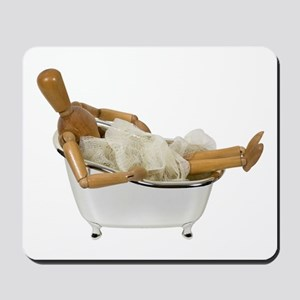 Relaxing in the bathtub Mousepad