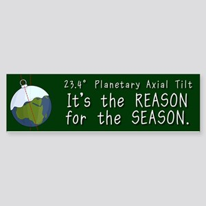 Planetary Tilt Bumper Sticker