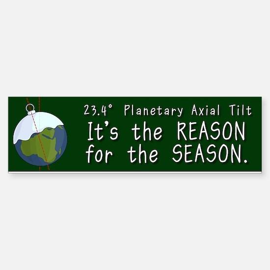 Planetary Tilt Bumper Bumper Bumper Sticker