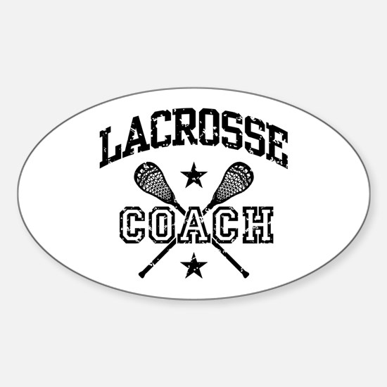 Lacrosse Coach Sticker (Oval)