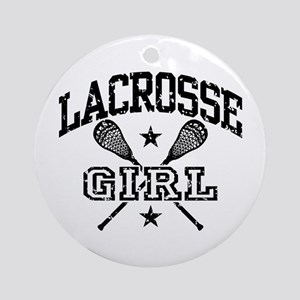 Lacrosse Girl Round Ornament