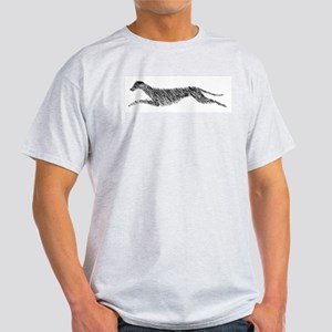 Leaping Scottish Deerhound Light T-Shirt