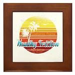 California Palms (2nd design). Framed Tile