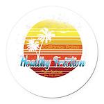 California Palms (2nd design). Round Car Magnet