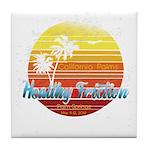 California Palms (2nd design). Tile Coaster