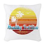 California Palms (2nd design). Woven Throw Pillow