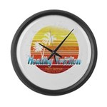 California Palms (2nd design). Large Wall Clock