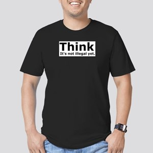 Think it's not illegal yet. Men's Fitted T-Shirt (