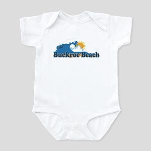 Buckroe Beach VA - Waves Design Infant Bodysuit