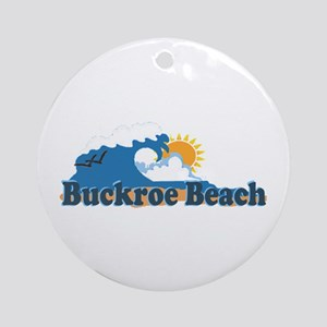 Buckroe Beach VA - Waves Design Ornament (Round)